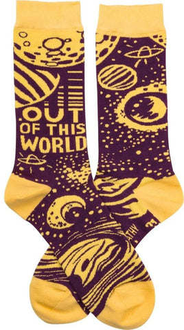 Out Of This World Planets and Moon Socks