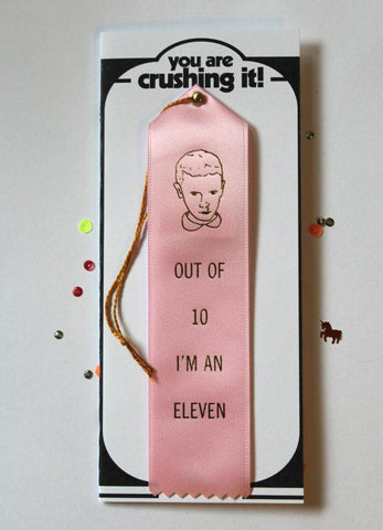 Out of 10 I'm an Eleven Award and Card in Pink