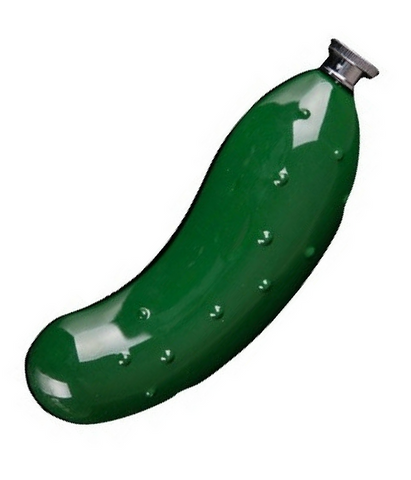 Pickle Flask in in Dill Pickle Green
