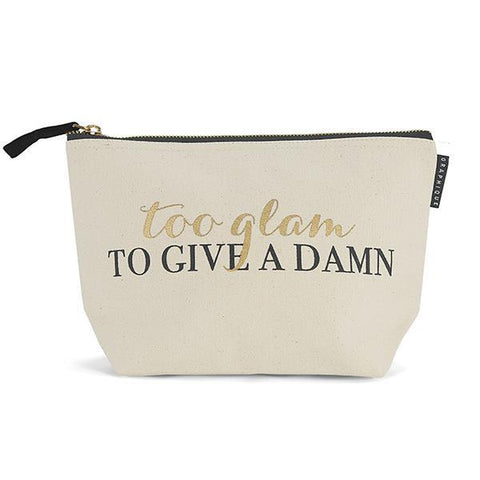 Too Glam To Give A Damn Zipper Pouch - $7.95