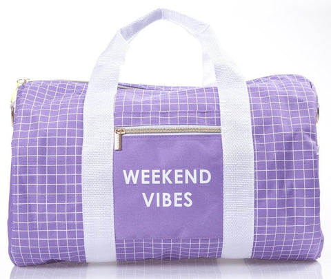 Weekend Vibes Lavender Weekend Travel Bag