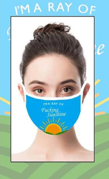 Ray Of Sunshine Face Cover with Adjustable Nose Bridge and Ear Straps | 2 Layers of Protection | Water Resistant