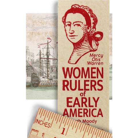 Mercy Otis Warren Women Rulers of Early America Wooden Ruler
