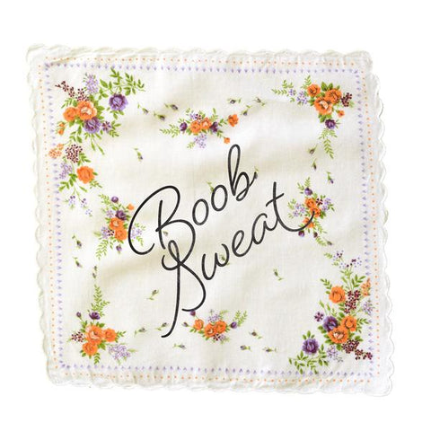 Boob Sweat Retro Floral Print Cotton Handkerchief