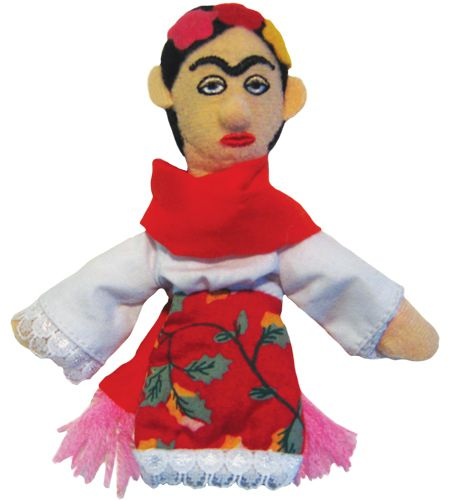 Frida Kahlo Refrigerator Magnet and Finger Puppet Mini Doll