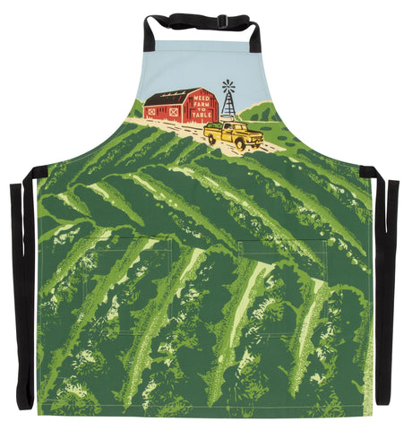 Weed Farm To Table Apron Retro Funny / Cute / Cool Marijuana Apron with Pockets BBQ /Grill / Cooking Country Novelty Cute Old Fashioned Apron