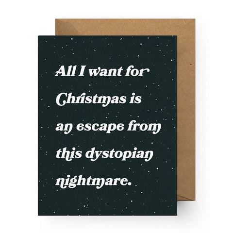 Dystopian Nightmare Holiday Greeting Card