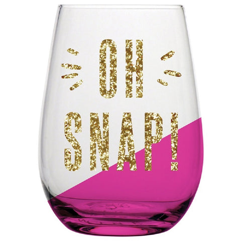 Oh Snap! Stemless Wine Glass | Bulk Discount - Buy 2+ and Save, No Code Needed