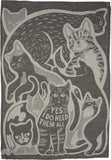 Yes, I Do Need Them All Dish Towel with Cat Design