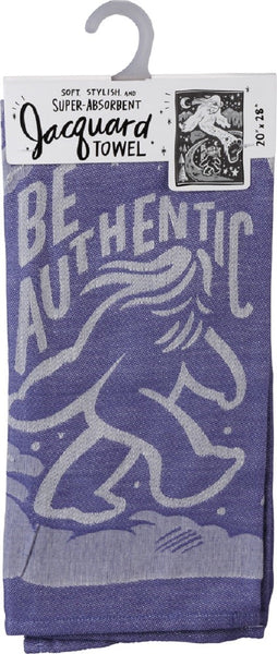 "Be Authentic Big Foot Purple Funny Dish Cloth Towel | Ultra Soft and Absorbent Jacquard | All-Over Design | Unfolds 20"" x 28"" 