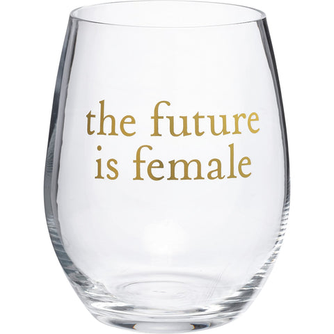 The Future Is Female Stemless Wine Glass with Cylinder Box