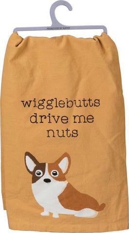 Wigglebutts Drive Me Nuts Funny Snarky Dish Cloth Towel / Novelty Silly Tea Towels / Cute Hilarious Farmhouse Kitchen Hand Towel