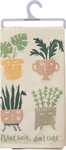 Plant Hair Don't Care Cotton Dish Towel