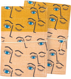 Winking Eye Fabric Covered Journal with Tie Closure