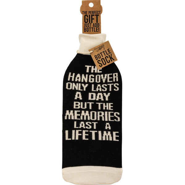 Hangover Lasts A Day But Memories Last A Lifetime Knit Bottle Sock