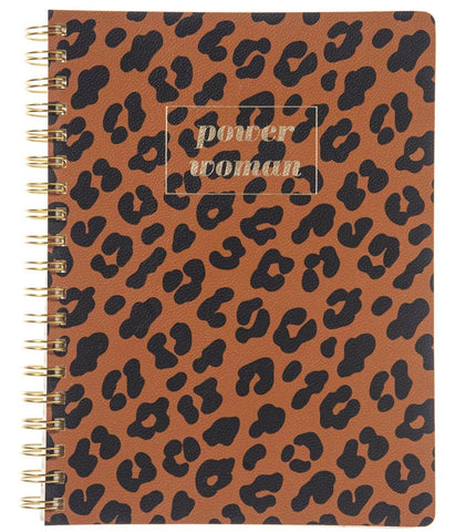 Power Woman Spiral Vegan Leather Journal