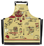 I'll Feed All You Fuckers Retro Funny / Profanity / Cool Apron with Pockets BBQ / Grill / Cooking Country Novelty Cute Old Fashioned Apron