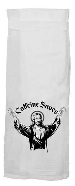 Caffeine Saves Dish Towel