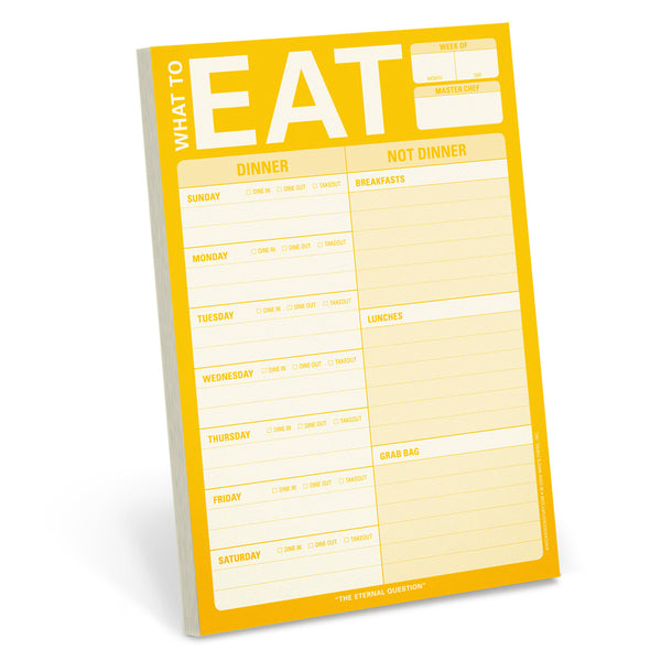 What to Eat Magnetic Meal Planning Pad in Yellow
