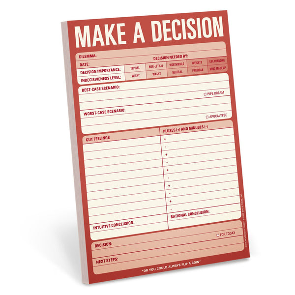 Make A Decision Pad in Crimson