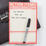 Action Items! Task List Planner Pad in Red