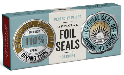 Official Seal of Giving 110%/Giving No Fucks Reward Gold Foil Sticker