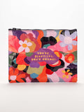 You're Beautiful Don't Change Zipper Pouch in '60s Floral
