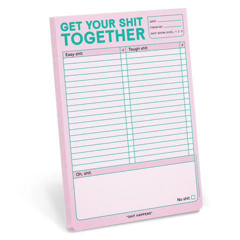 "Get Your Shit Together Notepad in Pastel Lavender | 6"" x 9"" 