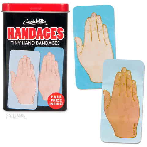 Handages Tiny Hand Bandages | Funny Bandages in a Metal Tin