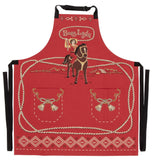Boss Lady Apron Cowgirl Western Retro Funny / Cute / Cool Apron with Pockets BBQ /Grill / Cooking Country Novelty Cute Old Fashioned Apron