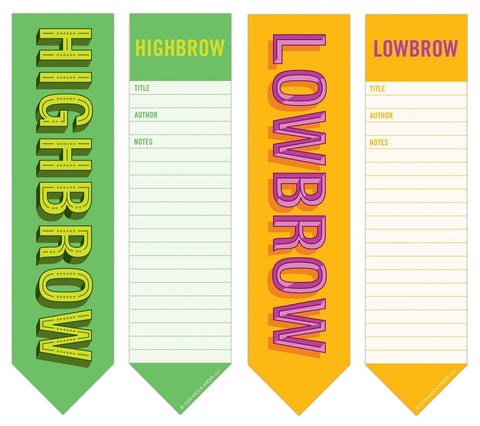 Highbrow and Lowbrow 2-in-1 Bookmark Pads in Green and Yellow