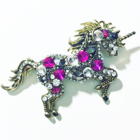 Bold Unicorn Brooch