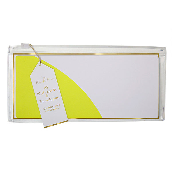 Neon Note Cards in Wallet