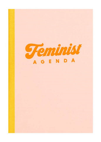 "Feminist Agenda Notebook in Peach | Inspirational Art Inside | 6"" x 8.5"" 