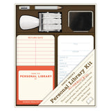Personal Library Kit with Checkout Cards and Library Stamp