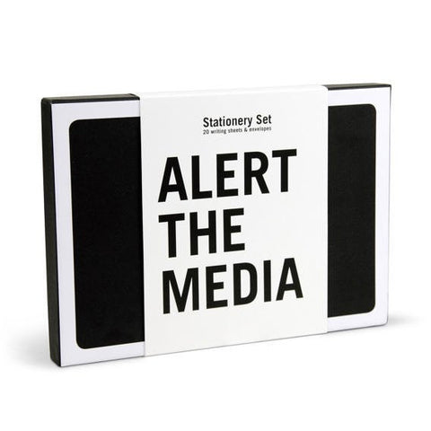 Alert the Media Stationery Set of 20 Graphic Sheets and Envelopes