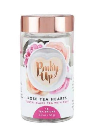 Rose Tea Hearts | Black Tea and Rose Petals | One Heart Makes One Pot of Tea