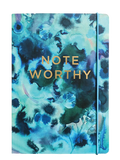 Note Worthy Ink Swirls Luxe Lined Notebook With Elastic Closure