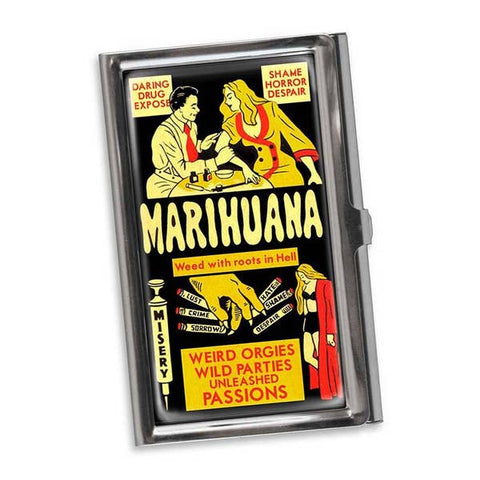 Marihuana Business Card Holder