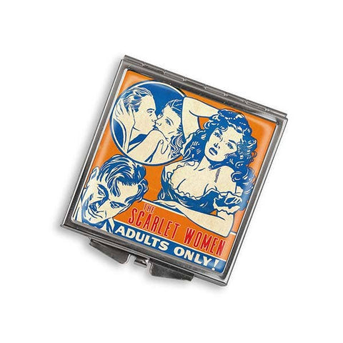 The Scarlet Women - Adults Only Vintage Square Mirror Compact