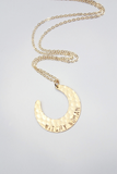 Witchy Woman Hammered Crescent Moon Necklace