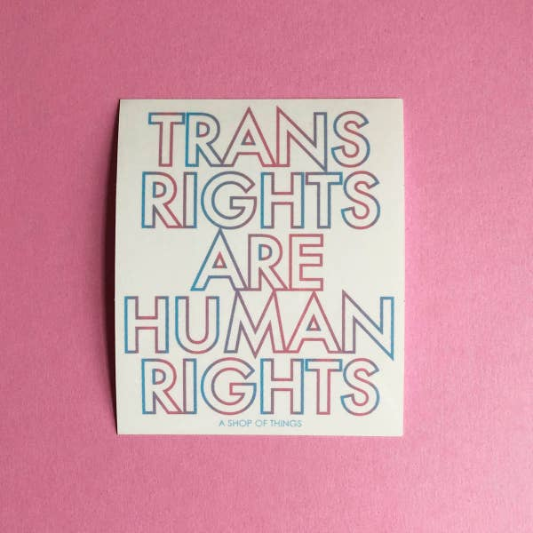 Trans Rights are Human Rights Vinyl Sticker