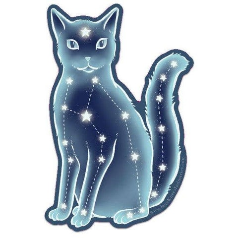 Celestial Cat Laminated Vinyl Sticker