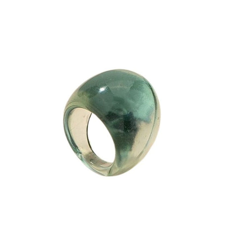Resin Bubble Ring in Sea Green