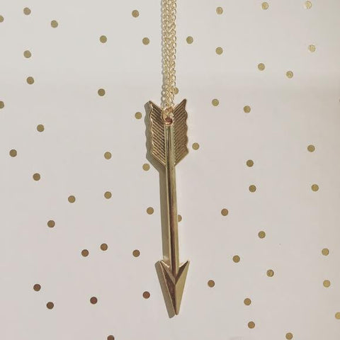 Sharp Like an Arrow Pendant Necklace in Gold or Silver