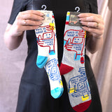 This Is What A Feminist Looks Like Women's Specialty Crew Socks Hipster/Nerdy/Geeky/Trendy, Novelty Socks with Cool Design, Bold/Crazy/Unique Pattern Dress Socks