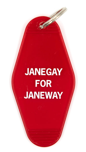 Janegay For Janeway Motel Style Keychain in Red