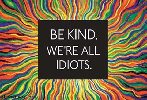 Be Kind. We're All Idiots Magnet in Multicolor