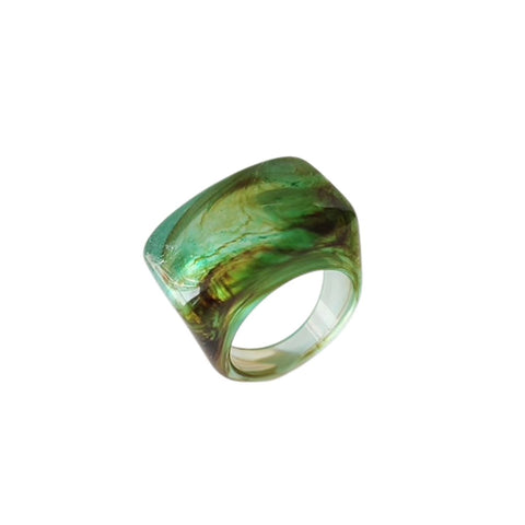 Resin Swirl Statement Ring (7 Colorways)