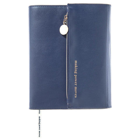 Power Moves Clutch Journal In Blue